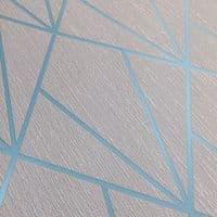 Muriva Indra Geometric Grey & Turquoise 154103 Wallpaper